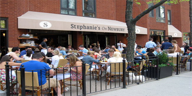 Lunchtime Patio Dining at Stephanie's on Newbury, Boston