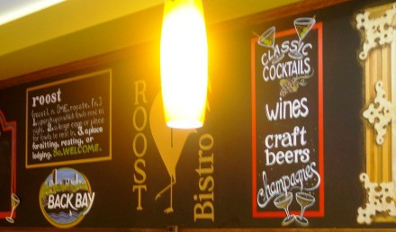 Brunching at Roost Bistro, Newbury Street, Boston